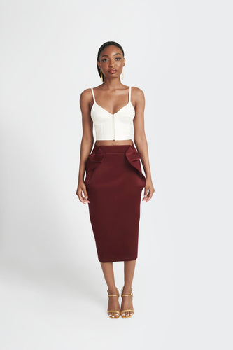 Statement structured skirt with pockets  by Sukeina