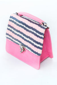 structured leather bag by Didi Isah in pink
