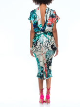 Load image into Gallery viewer, Silk print womens blouse and womens skirt by EKI