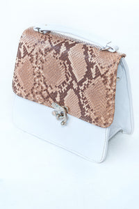 structured leather bag by Didi Isah in white
