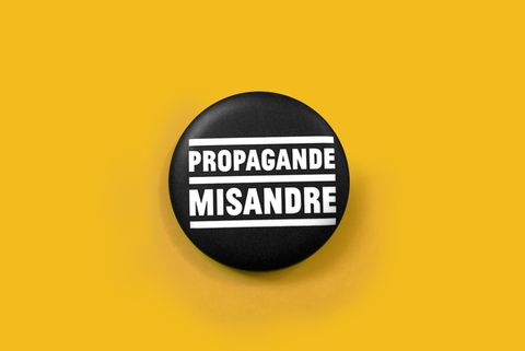 badge propagande misandre