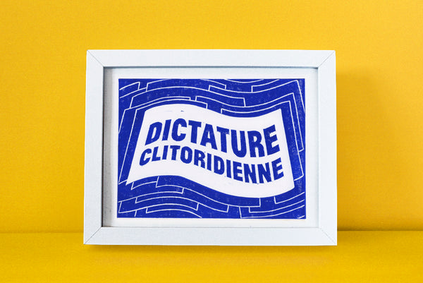 affiche dictature clitoridienne bleu