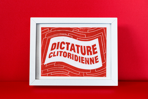 Affiche A4 Dictature Clitoridienne