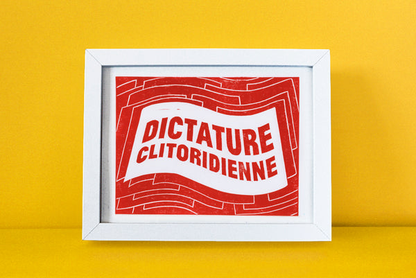 linogravure clito despotique rouge