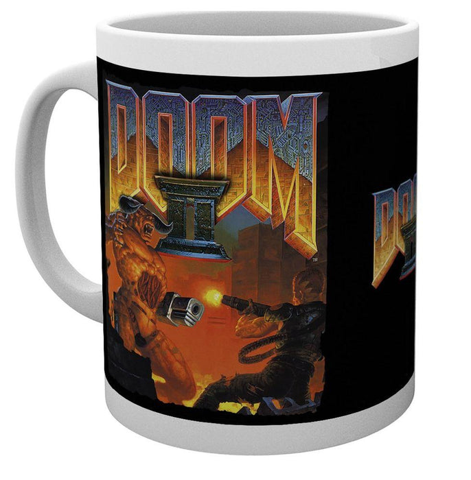 Doom - Doom 2 Game Cover - Tasse