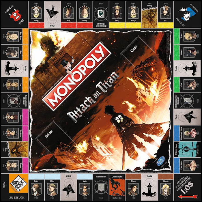 Attack on Titan - Monopoly - Deutsche Version