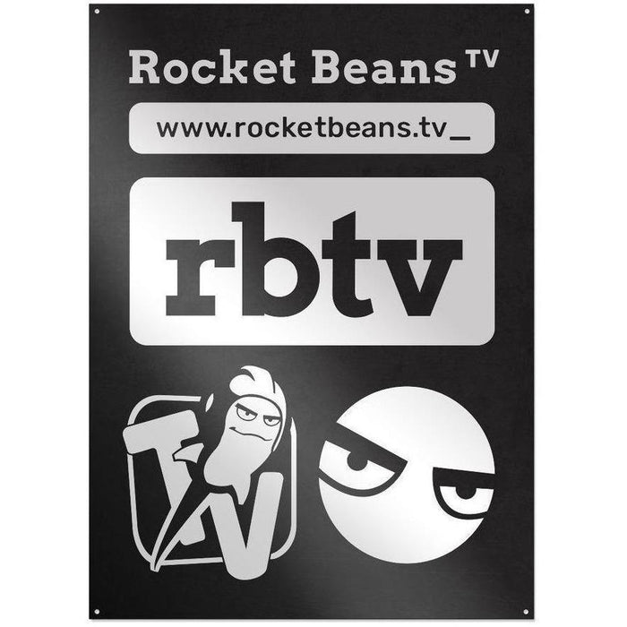 Rocket Beans TV - TypoMix - Metallschild