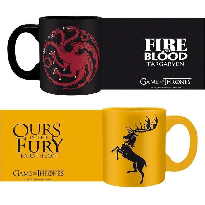 Game of Thrones - Targaryen & Baratheon - Tassen Set