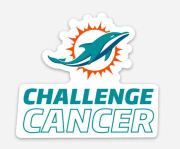 Dolphins Challenge Cancer Sticker