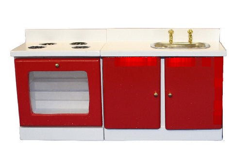 Red-White Stove & Sink