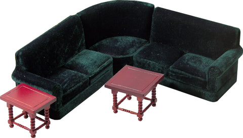 Green Corner Couch Set