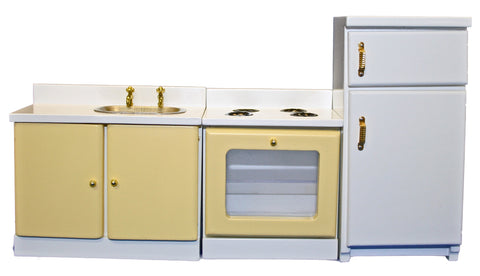 Yellow & White Kitchen Set