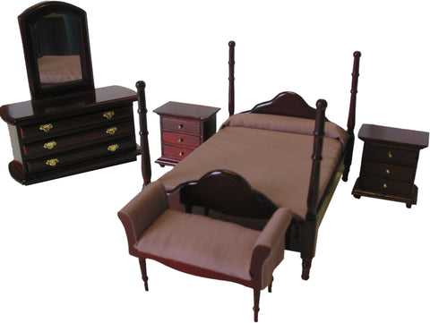 Mahogany Double Bed Set
