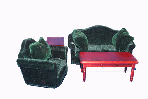 Green Living Room Set