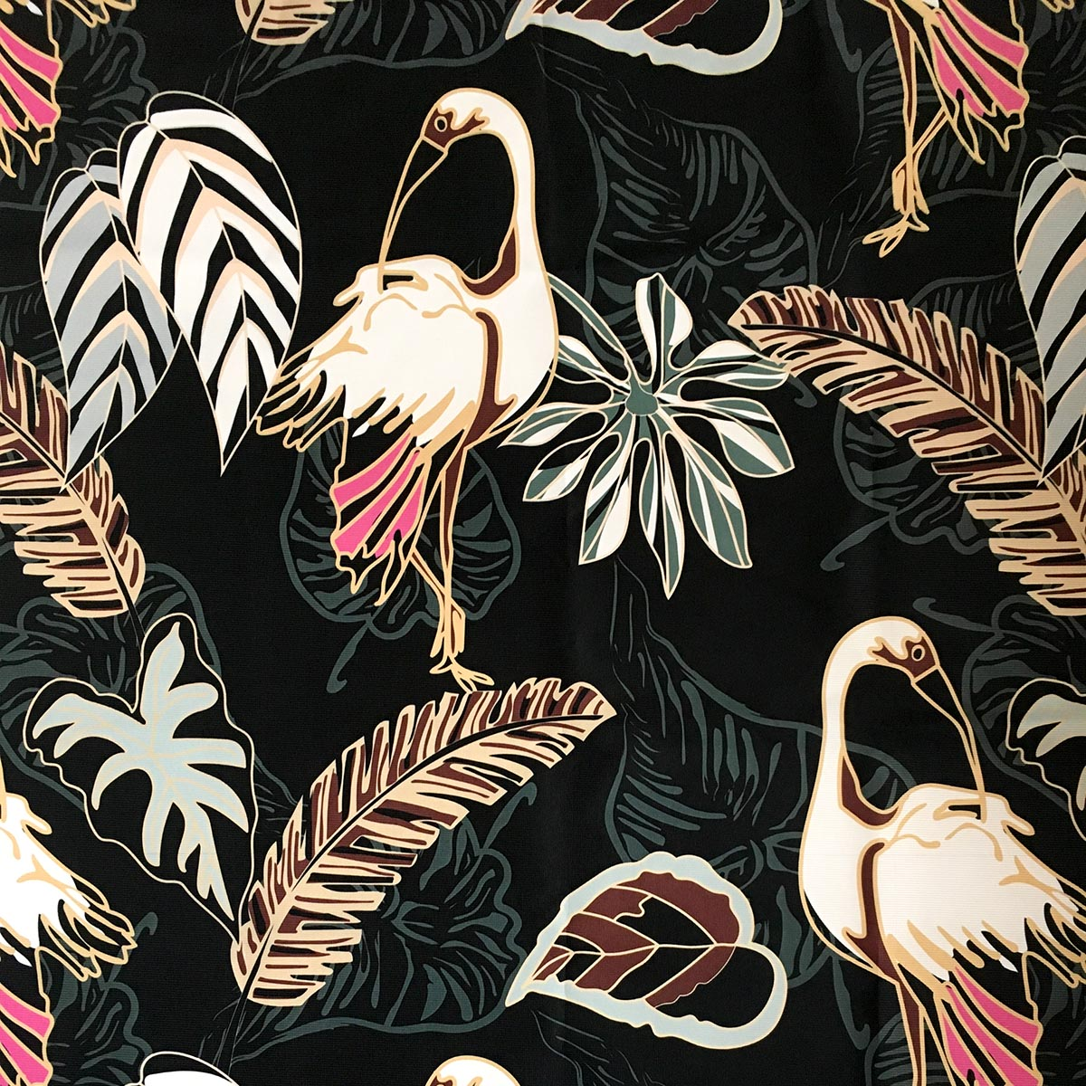 tropical print for dog coats