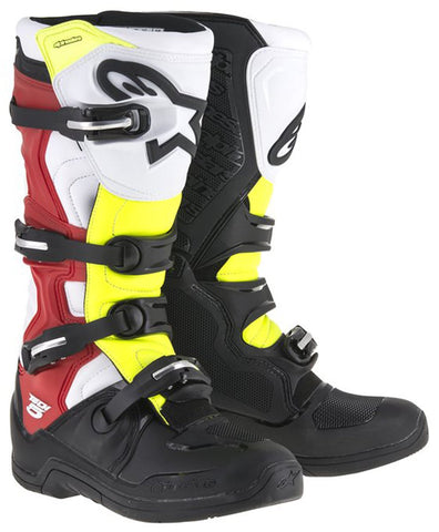ALPINESTARS TECH 5 BLACK/WHITE/RED/YELLOW BOOT