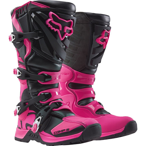 FOX COMP 5 WOMENS BLACK/PINK BOOT
