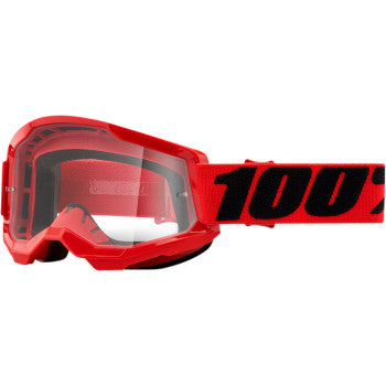 100% Strata 2 Goggles - Red - Clear