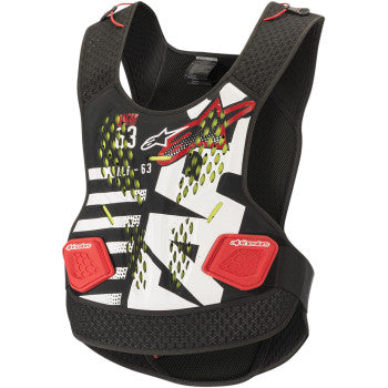 Sequence Chest Protector - Black/White/Red