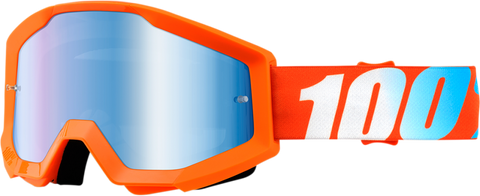 100% THE STRATA ORANGE/MIRROR BLUE GOGGLE