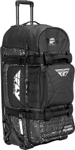 FLY RACING OGIO RIG 9800 BAG BLACK/WHITE