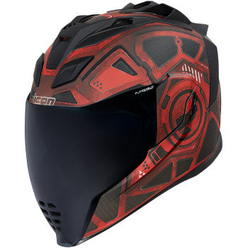 ICON AIRFILTE BLOCKCHAIN RED HELMET