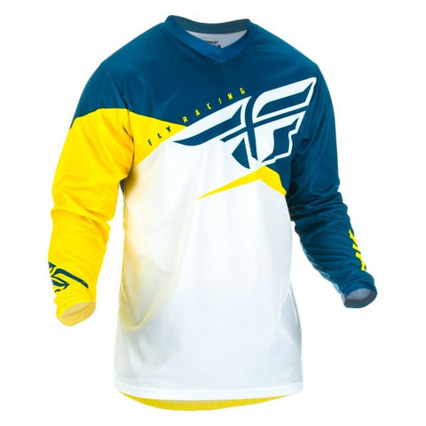 FLY F-16 YELLOW/WHITE/NAVY JERSEY