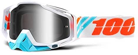 100% THE RACECRAFT CALCULUS ICE/MIRROR SILVER LENS GOGGLE