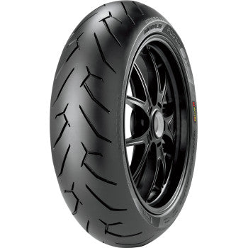 PIRELLI Diablo Rosso II Multi-Compound Supersport Tire — Rear  Tire - Diablo Rosso 2 - 180/55ZR17