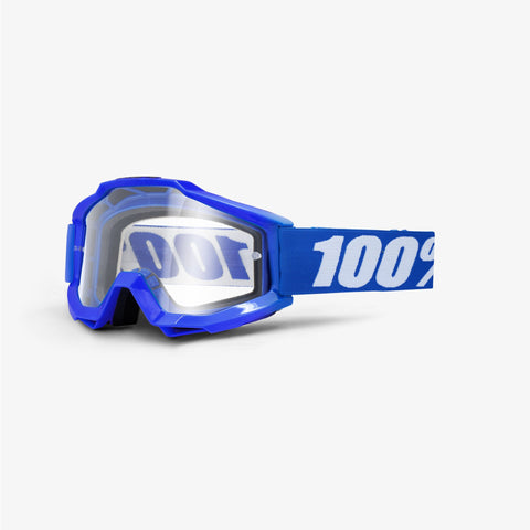 100% THE ACCURI REFLEX BLUE/CLEAR LENS GOGGLE