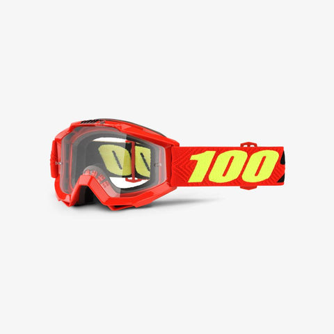 100% THE ACCURI JR YOUTH SAARINEN/CLEAR LENS GOGGLE