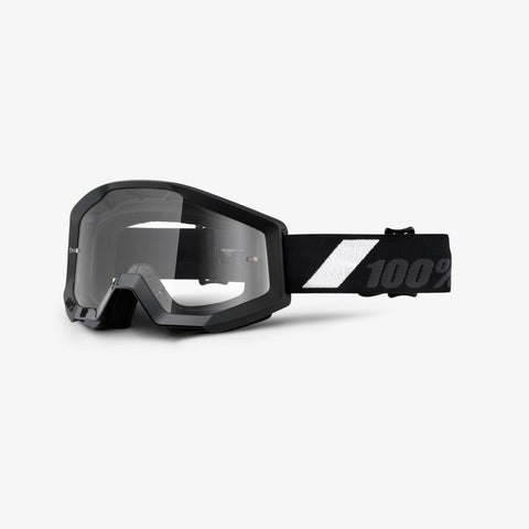100% THE STRATA GOLIATH BLACK/CLEAR LENS GOGGLE