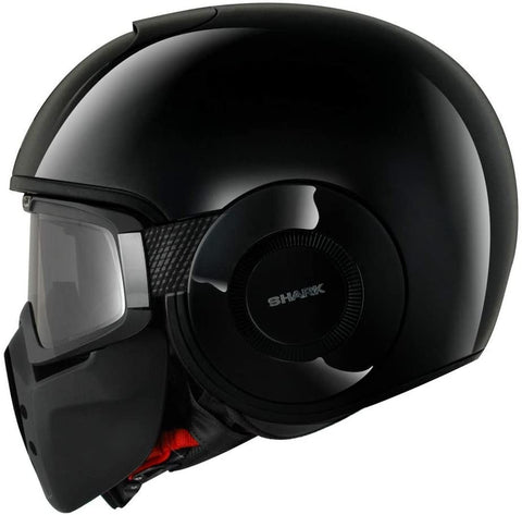 SHARK DRAK BLANK DOT SOLID BLACK HELMET