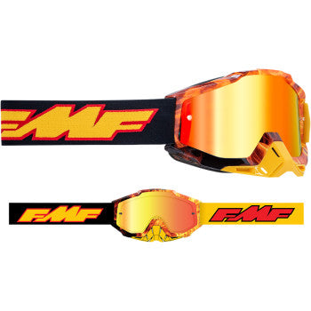 FMF PowerBomb Goggles - Spark - Red Mirror