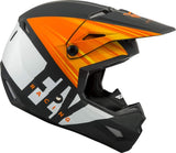 FLY KINETIC COLD WEATHER MATTE ORANGE/BLACK/WHITE HELMET