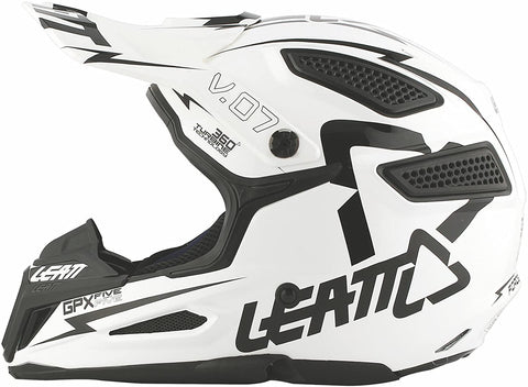 LEATT GPX 5.5 JR V07 YOUTH WHITE/BLACK HEMLET