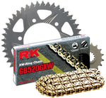RK Racing Chain 3106-098RG Silver Aluminum Rear Sprocket and GB520GXW Chain 520 Race Conversion Kit