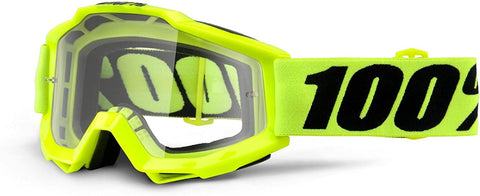 100% THE ACCURI OTG YELLOW FLO/CLEAR LENS GOGGLE