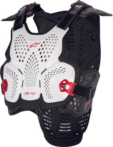 ALPINESTARS A-4 CHEST PROTECTOR WHITE/BLACK/RED XL/
