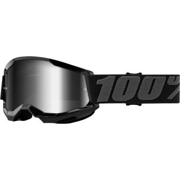 100% Youth Strata 2 Goggles - Black - Silver Mirror