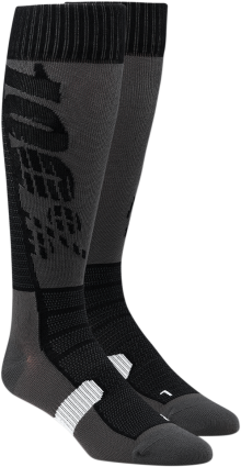 100% HI SIDE BLACK GREY SOCK