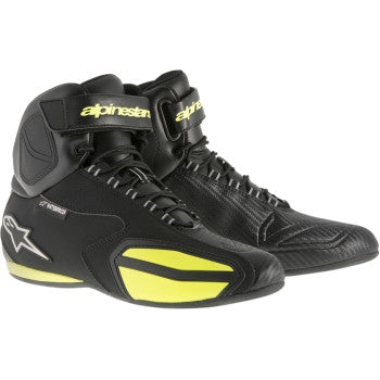 ALPINESTARS FASTER WP SHOES BLACK/YELLOW FLUO BOOT