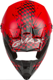 GMAX YOUTH MX-46Y OFF-ROAD ANIM8 HELMET RED/BLACK/SILVER