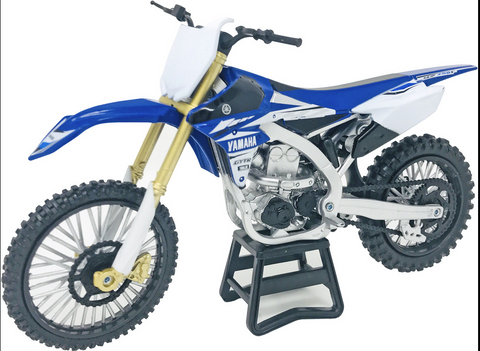 NEW-RAY REPLICA 1:12 RACE BIKE 17 YAMAHA YZ450F BLUE
