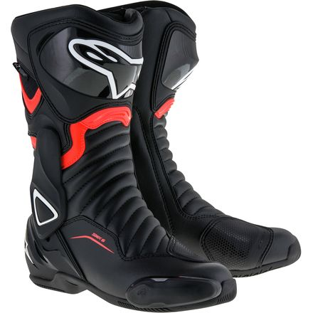 ALPINESTARS SMX-6 V2 BLACK/RED FLUO BOOT