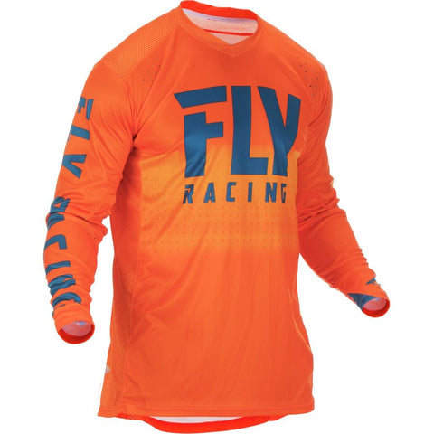 FLY S19 LITE HYDROGEN ORANGE/NAVY JERSEY