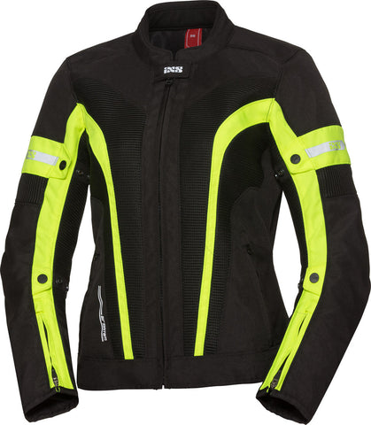 IXS ST WOMEN LARISSA AIR 2.0 BLACK/FLU YELLOW JACKET