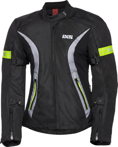 IXS SPORTS WOMEN 5/8 ST BLACK/GREY/YELLOW JACKET