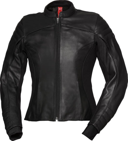 IXS X-TOUR LD ANNA WOMEN LEATHER BLACK JACKET