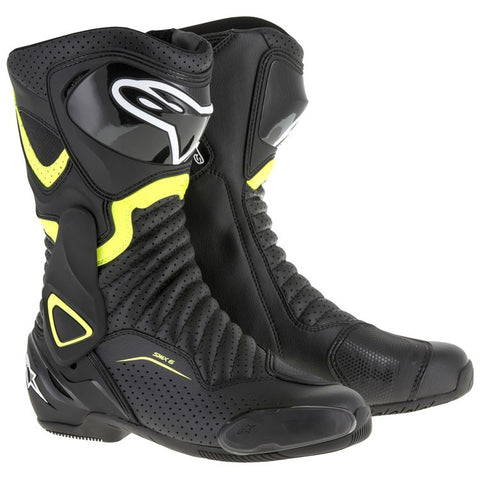 ALPINESTARS SMX-6 V2 BLACK/YELLOW FLUO/VENT BOOT